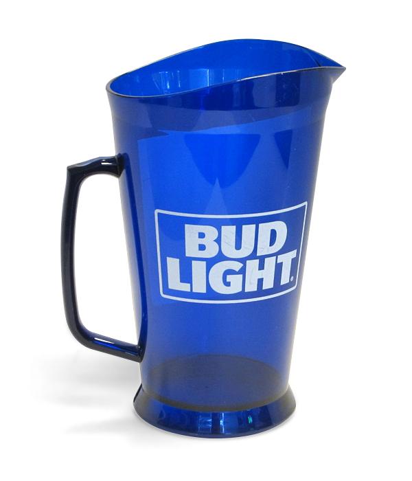 Bud Light Royal Blue Translucent 60oz Plastic Pitcher