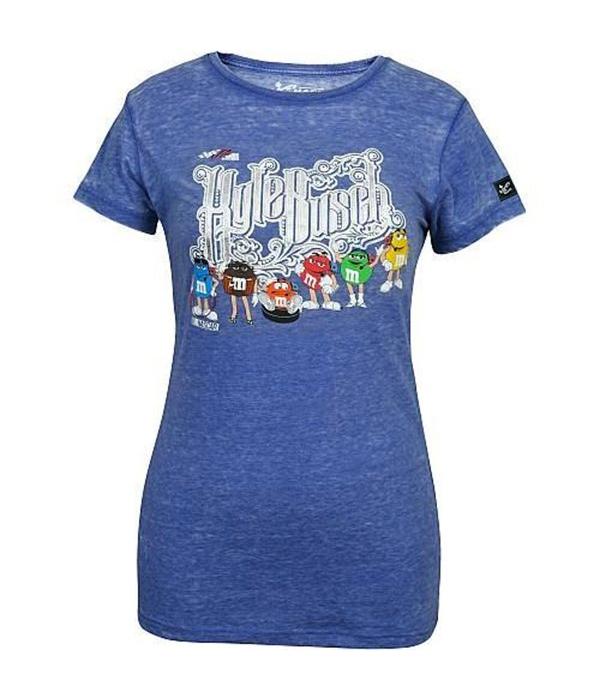 38acb0d41656  18 Kyle Busch Ladies Light Blue Burnout T-Shirt