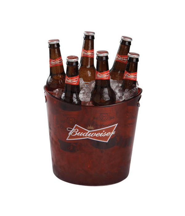 6a8135143 Budweiser Red Translucent Plastic Bucket