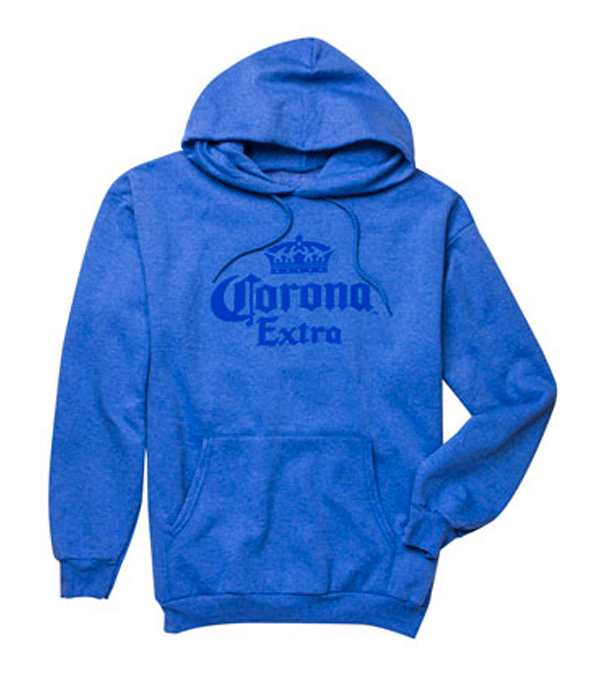 Corona Extra Light Blue Hooded Sweatshirt The Beer Gear Store