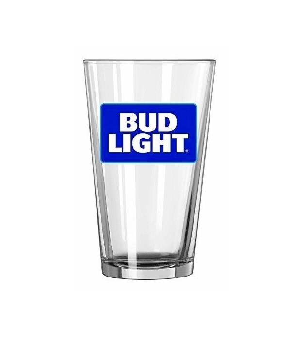 Bud Light Logo Nucleated Pint Glass