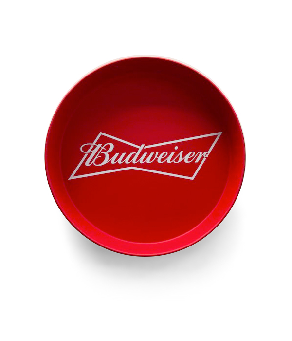 35f3ae8192cd Budweiser Bowtie Red Metal Tray - The Beer Gear Store