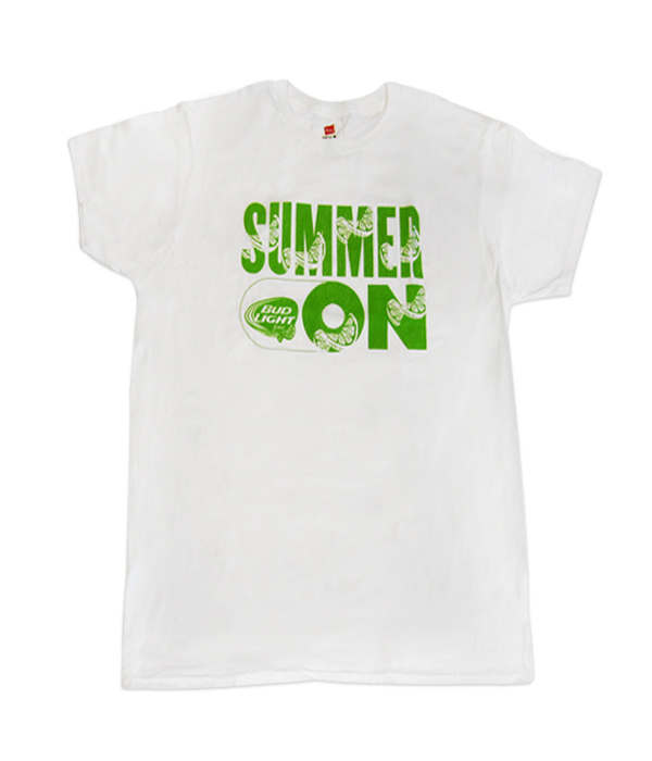 a4f75e2f2062 Bud Light Lime White Summer On Tee - The Beer Gear Store