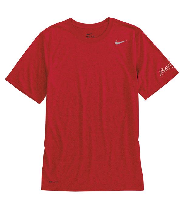 Budweiser Nike Red Dri Fit T-Shirt