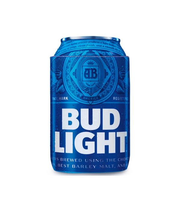 Bud Light Royal Blue Retro Logo Can Coolie