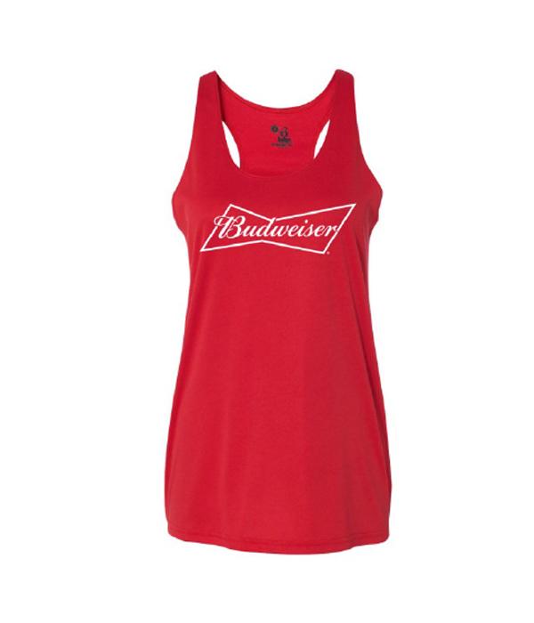 af443f617a3229 Budweiser Summer Ladies Racerback Tank Top - The Beer Gear Store
