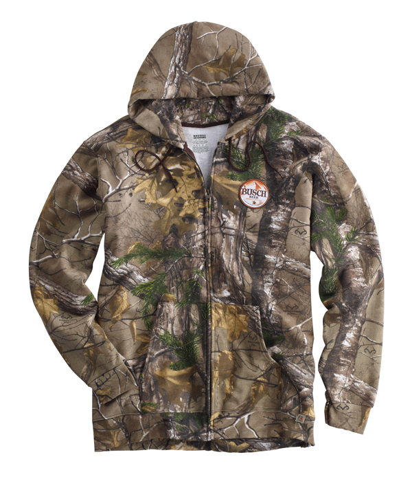 Busch Beer Camo Full Zip Hoodie - The Beer Gear Store 86c3386c02fd