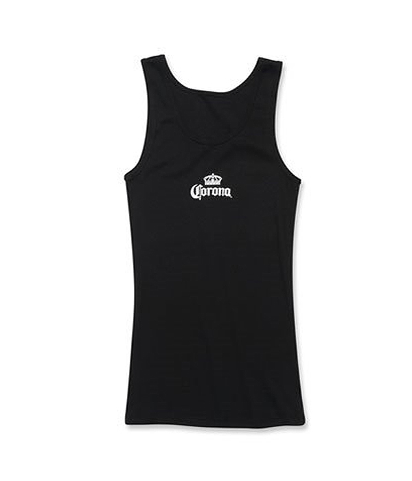 f70d4e1a8230ef Corona Ladies Logo Black Ribbed Tank Top - The Beer Gear Store