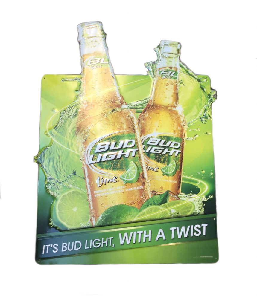 Bud Light Lime Full Color Graphic Metal Sign The Beer
