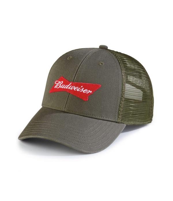 Budweiser Green Military Trucker Hat - The Beer Gear Store d42cc8a3ecc