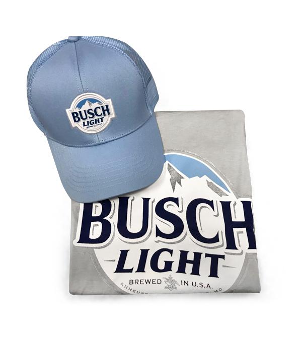 9f8990221 Busch Light Gray T-Shirt and Hat Combo