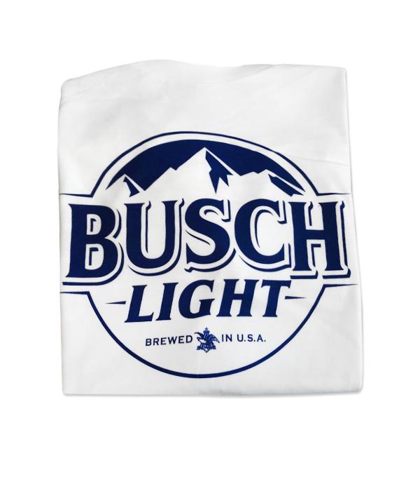 16168d092 ... busch light logo white crew neck t shirt the beer gear ...