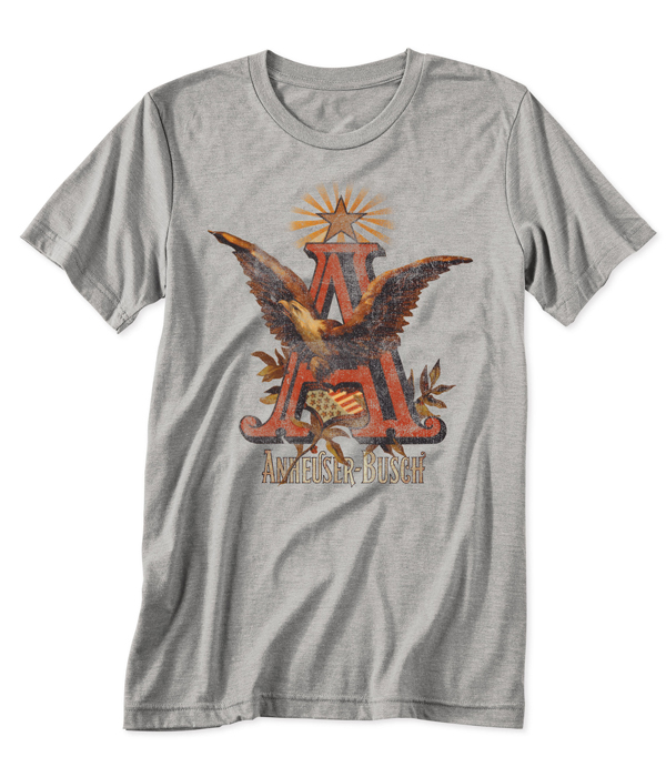 3df6e0ac5 Anheuser Busch A&Eagle Gray T-Shirt - The Beer Gear Store