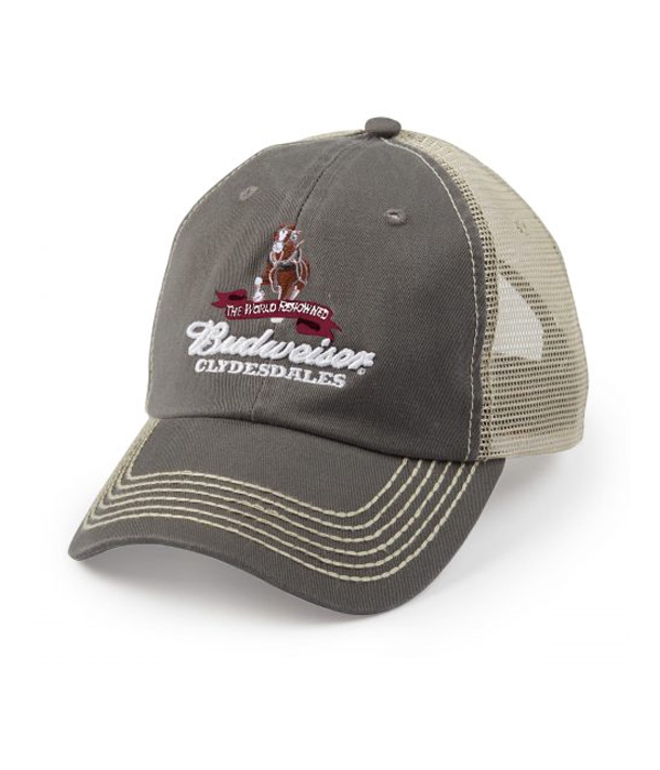 07ed46c8a Budweiser Clydesdale Gray Trucker Hat