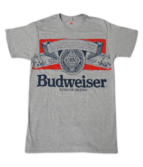 a0fa6c0a9 Budweiser Gray Label T Shirt - The Beer Gear Store