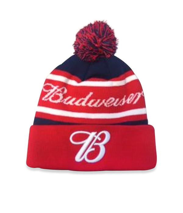311a37d2 Budweiser Red White Blue Beanie