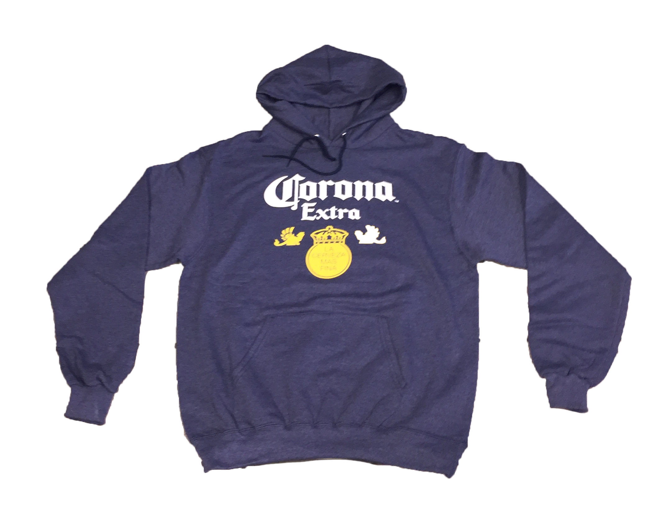 Corona Extra Navy Hoodie Sweatshirt The Beer Gear Store