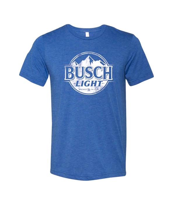 505564e66 ... busch light blue circle logo t shirt the beer gear ...