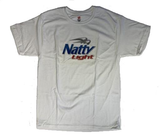 5ebecd192 Natty Light White T-Shirt - The Beer Gear Store